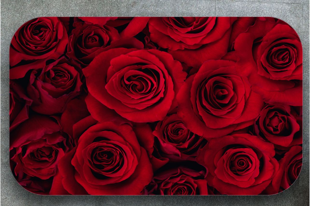 Table Decals - Red roses | Buy Table Decals in x-decor.comи