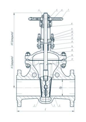 Задвижка стальная 31лс45нж Ру 16 МПа