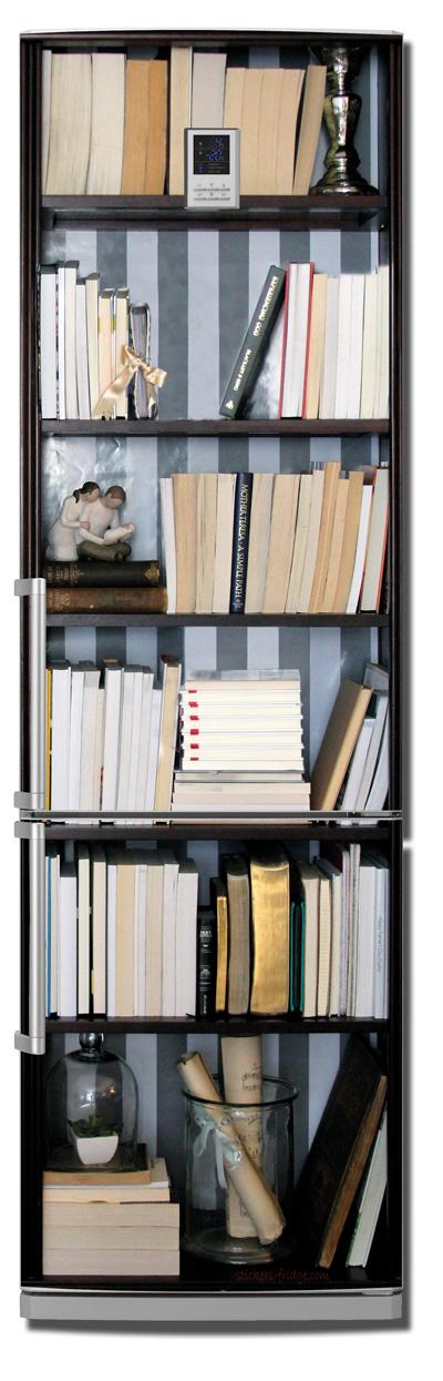 наклейка на холодильник -  Книжный шкаф