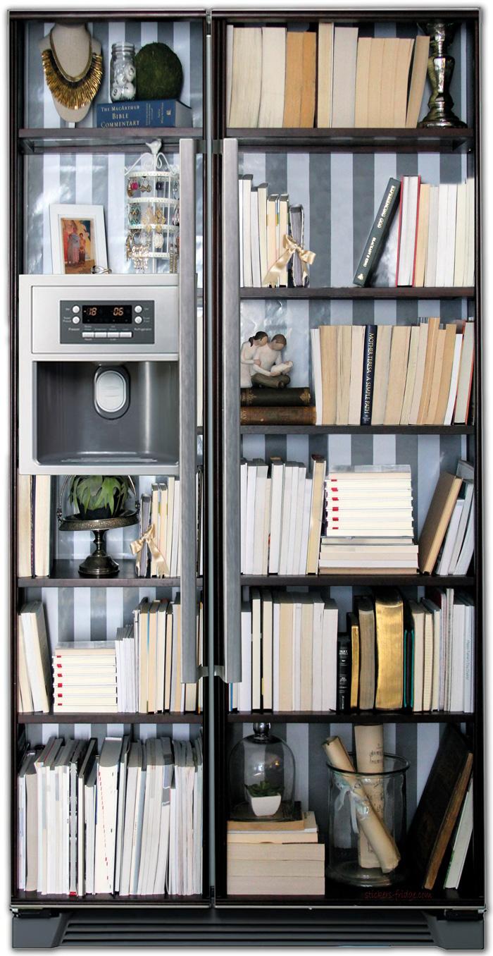 стикер на холодильник -  Книжный шкаф
