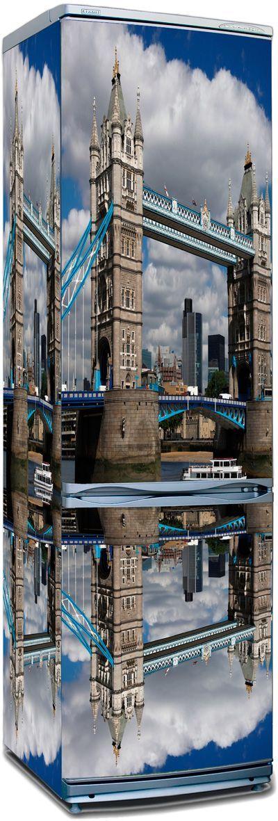 Наклейка на холодильник - Лондонский мост.