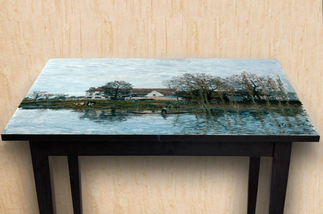 Table Decals - The Seine at Port-Marly |Buy Table Decals in x-decor.com