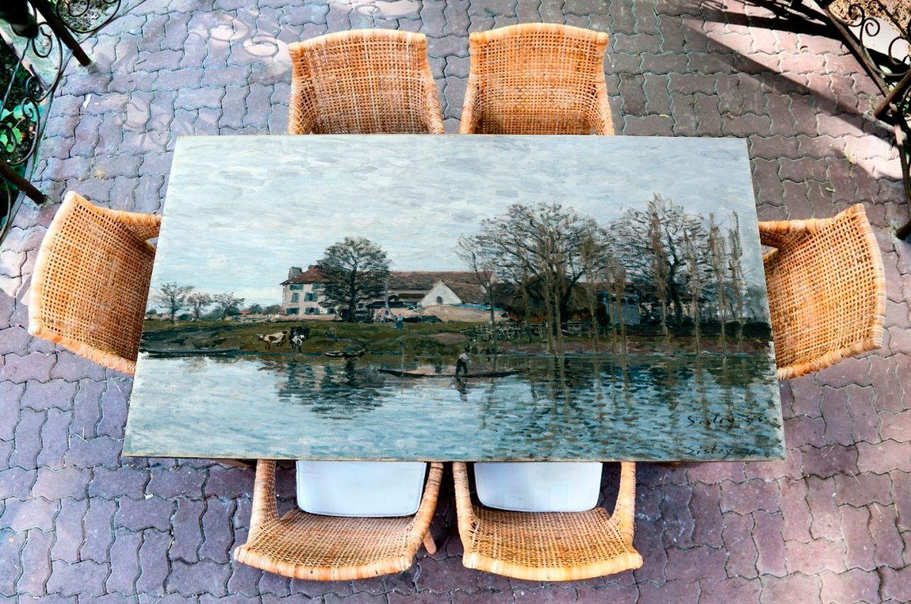 Наклейка на стол - Сена у Порт-Марли | Купить фотопечать на стол в магазине Интерьерные наклейки