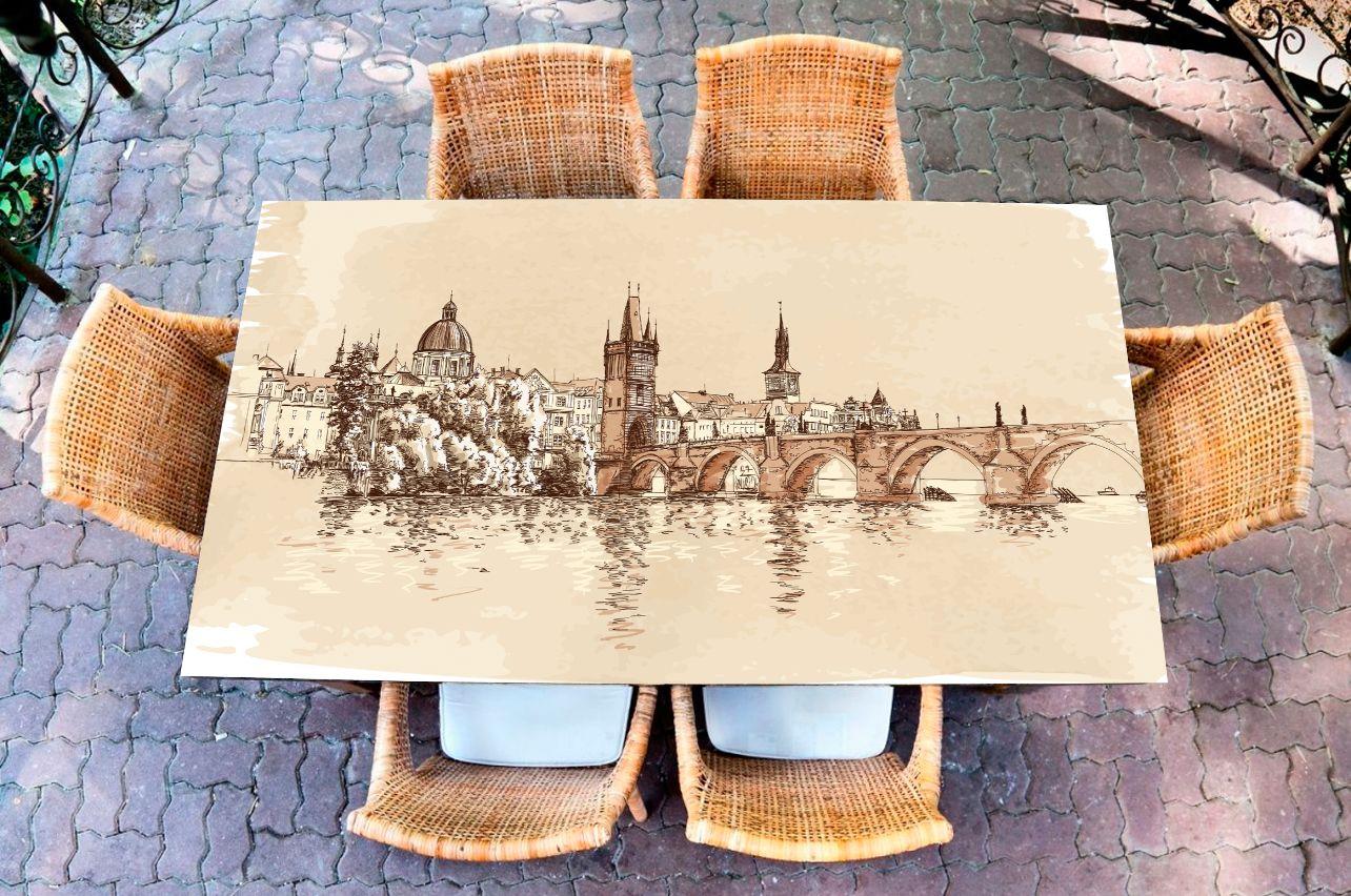 Наклейка на стол - Прага   Купить фотопечать на стол в магазине Интерьерные наклейки
