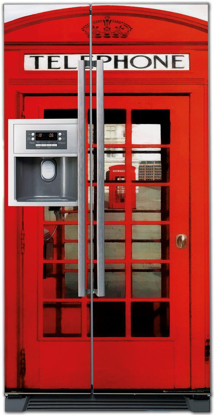 наклейка на холодильник - Телефонная будка
