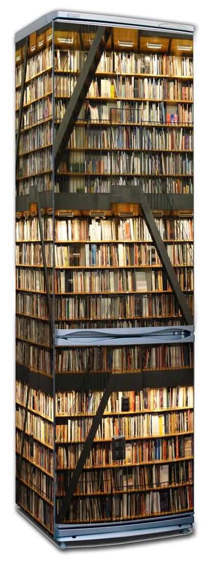 Наклейка на холодильник - библиотека, купить интерьерные нак.