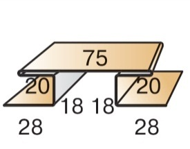 Планка стыковочная сложная