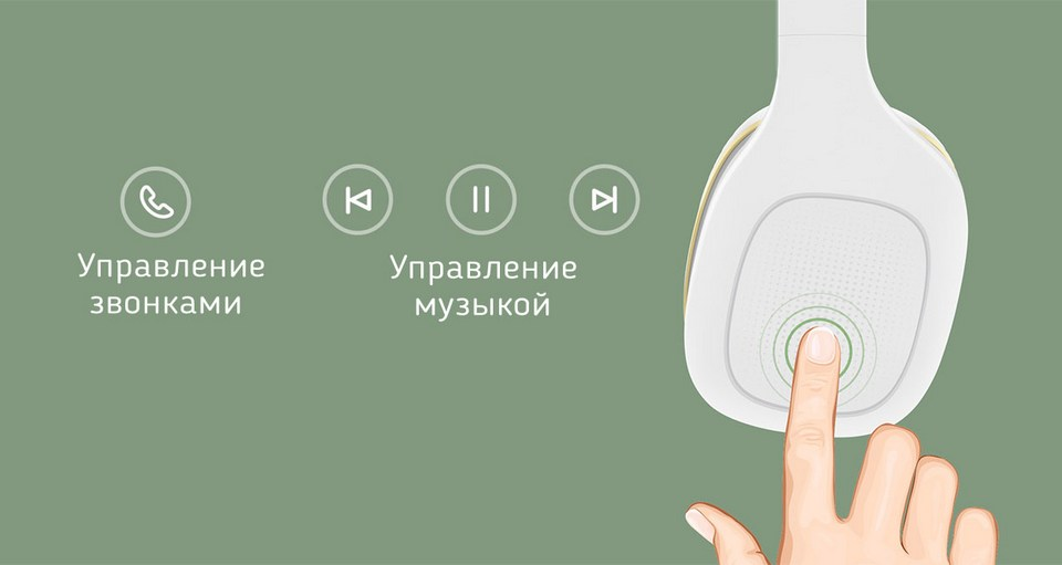 mi headphone 2 сенсорное управление