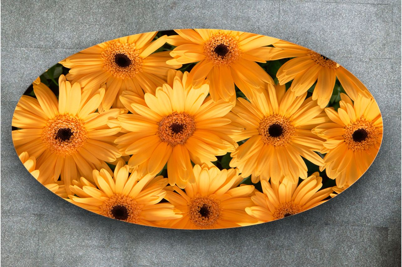 Stickers a Table - Gerberas | Buy Table Decals in x-decor.com