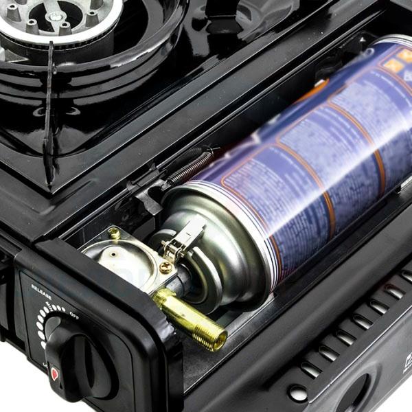 Портативная газовая плита Lanis LP-1000 - отсек для баллона