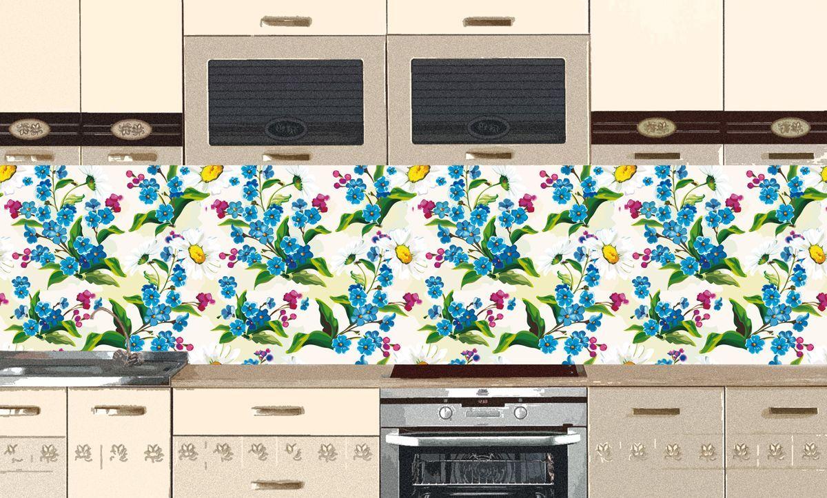 Фартук кухни - Цветочный мотив 2 купить в магазине Интерьерные наклейки