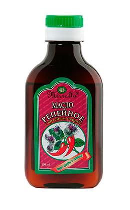Репейное масло с красным перцем от Мирролла
