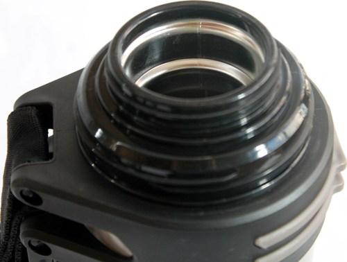Термос Steel для напитков с пробкой-кнопкой - стальное горло