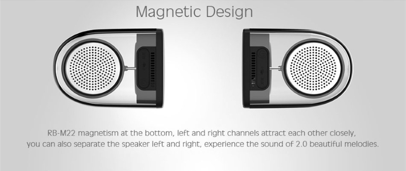 Колонка Remax RB-M22 Dual Magnetic Wireless Bluetooth беспроводная
