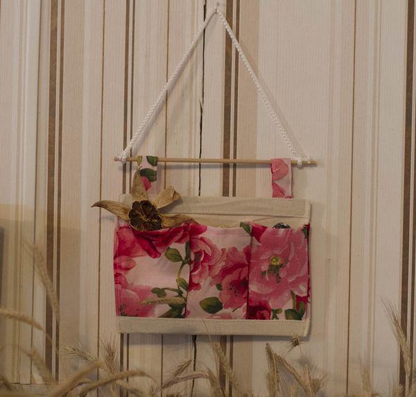 подвесной органайзер с цветами и 3-мя карманами