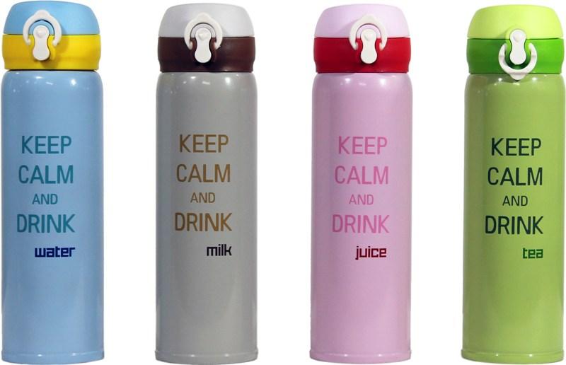 Термостакан с поилкой Keep Calm 500 мл - ассортимент цветов