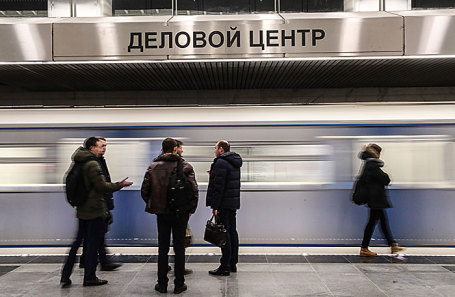 Станция «Деловой центр», открывшаяся на первом участке Большого кольца столичного метро.