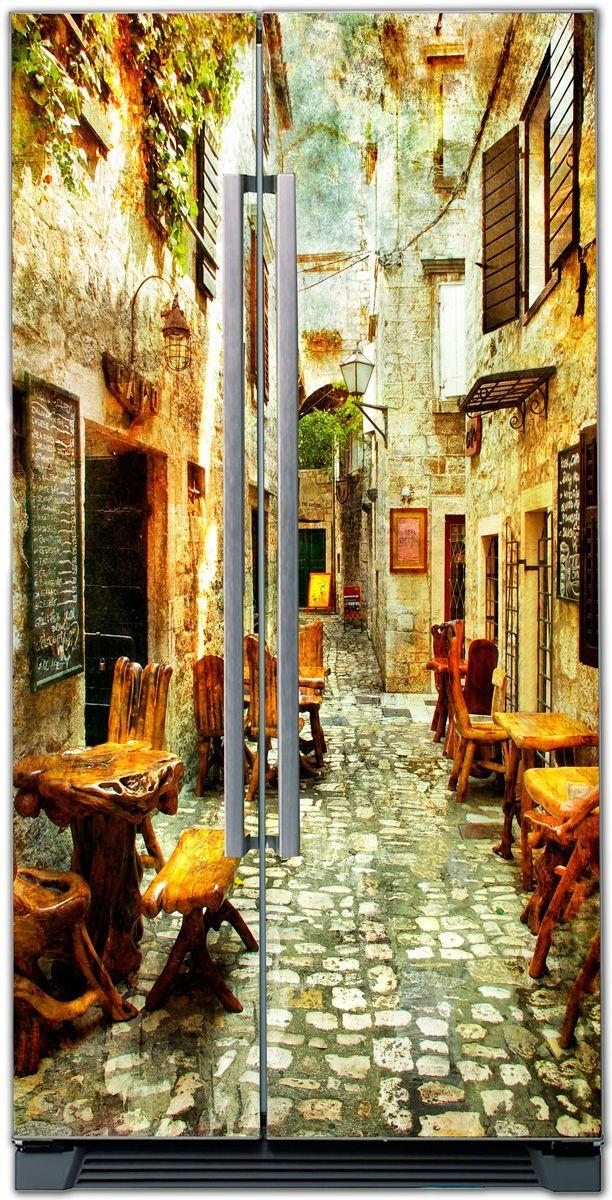 стикер - старые улочки Греции 1