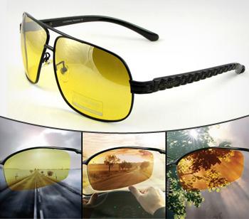 Современные очки для вождения с поляризационными линзами блокируют световые  лучи, отражающиеся от дорожного полотна, от проезжающих мимо автомобилей и  ... afc83a3c07e