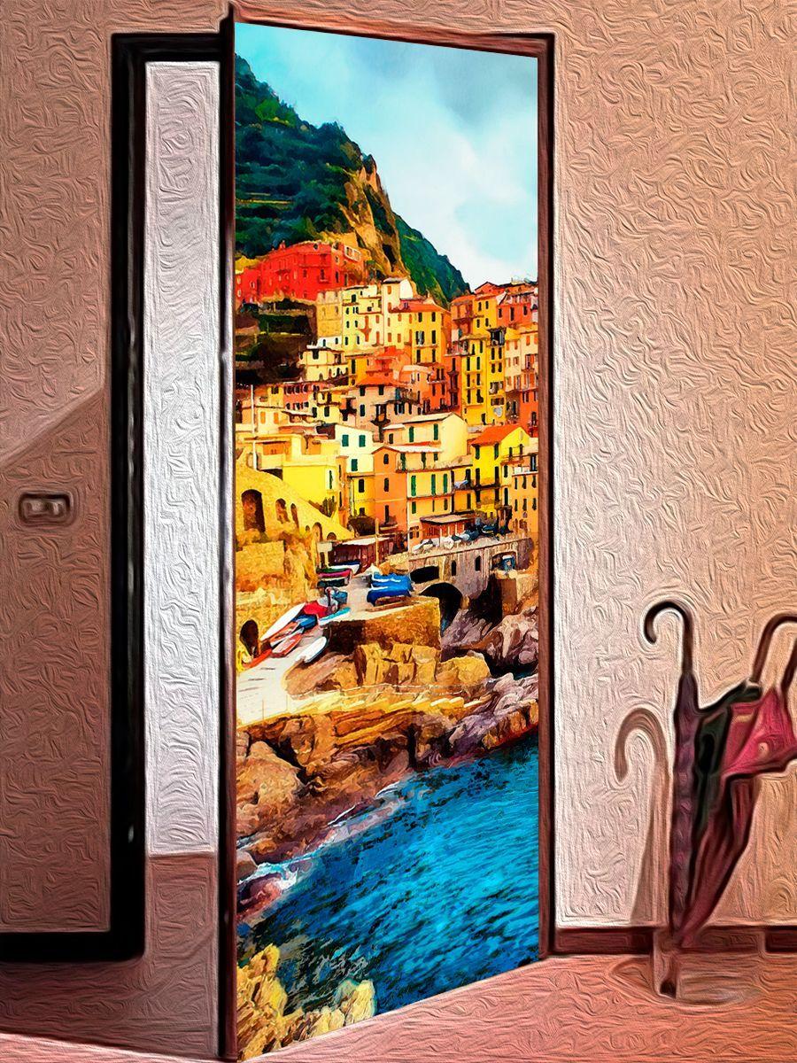 Фотообои на дверь - На берегу неба | магазин Интерьерные наклейки