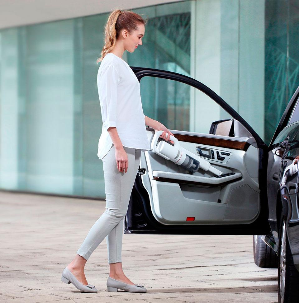 Roidmi F8 Handheld Wireless Vacuum Cleaner чистка автомобиля