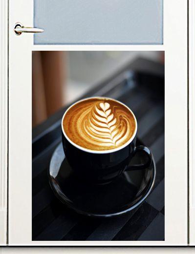 Наклейка на посудомоечную машину  - Латте-арт