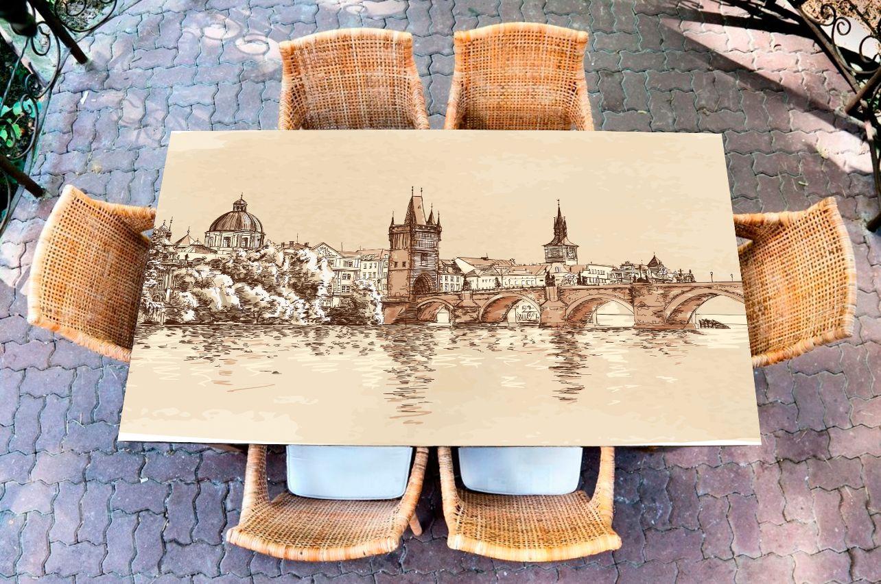 Наклейка на стол - Прага | Купить фотопечать на стол в магазине Интерьерные наклейки