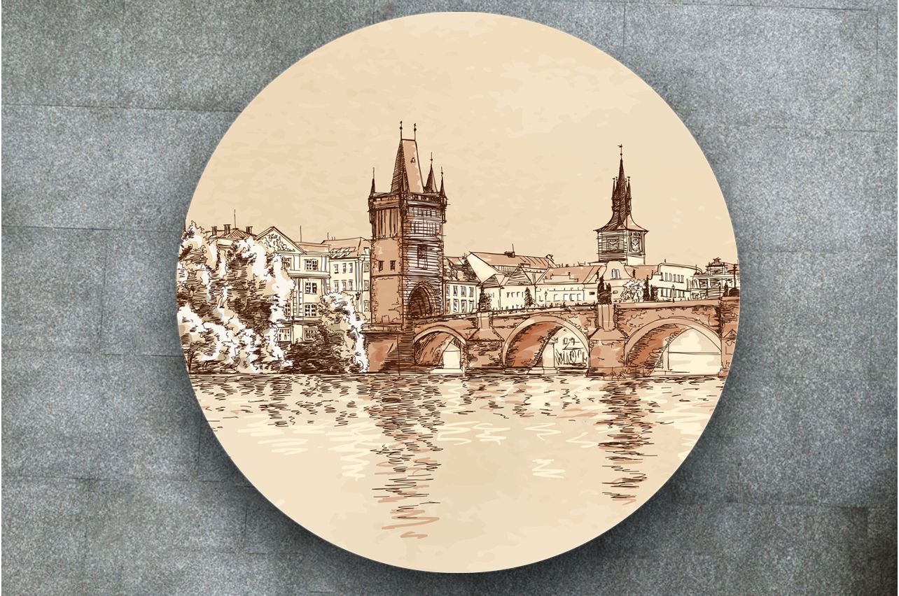 Stickers a Table - Prague | Buy Table Decals in x-decor.com
