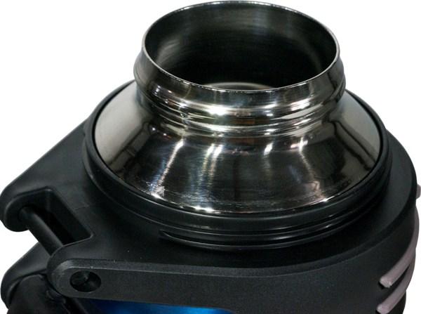 Термос Steel Drink для напитков с пробкой-кнопкой - стальное горло