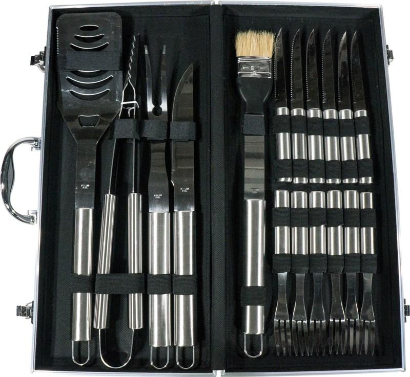 Набор для приготовления гриля Steel S-102 из 18 предметов - приборы