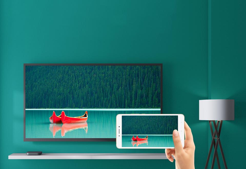 TV-Приставка Xiaomi Mi Box S International Edition ретрансляция на смартфон