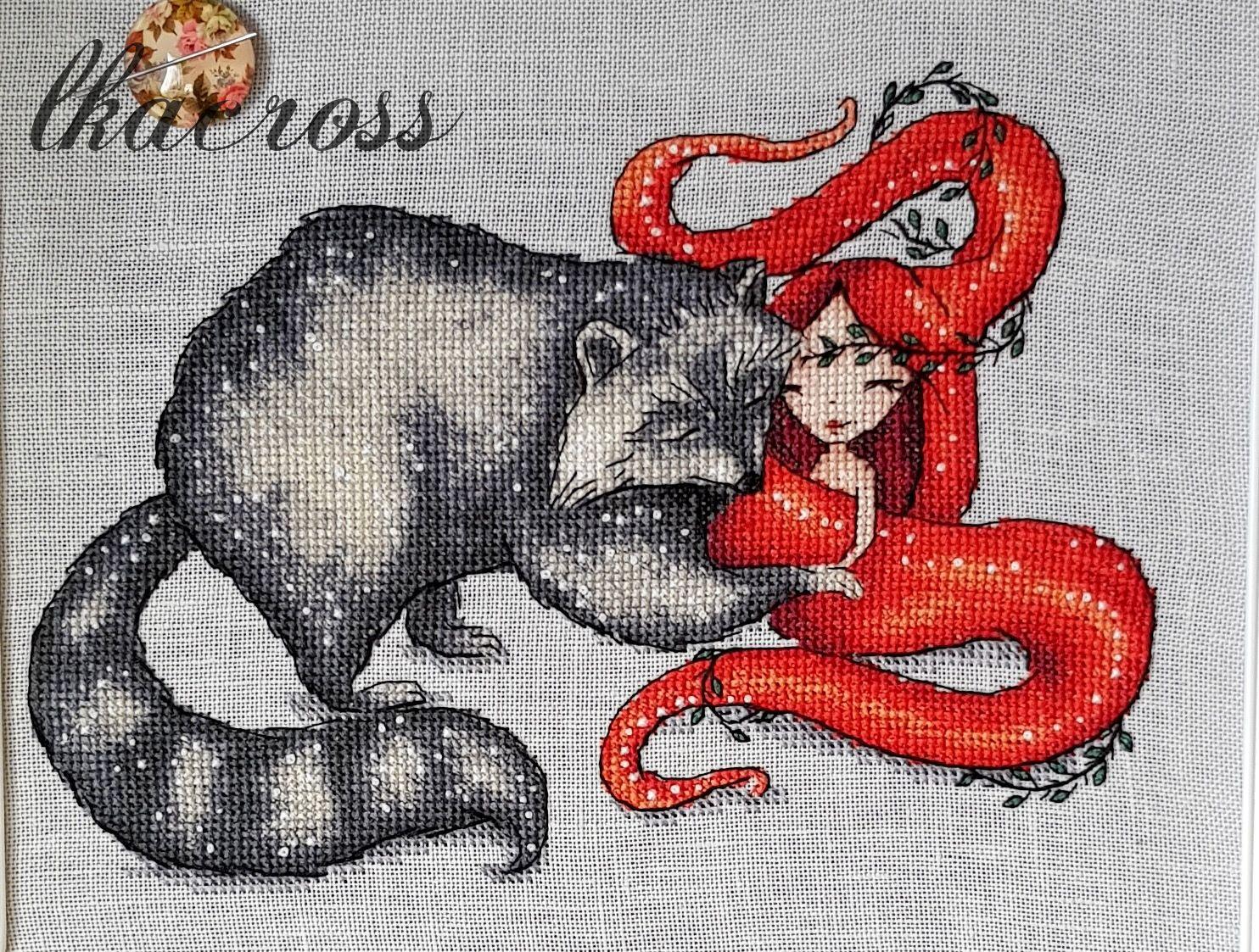 Схема для вышивки крестом Розальва. Отшив.