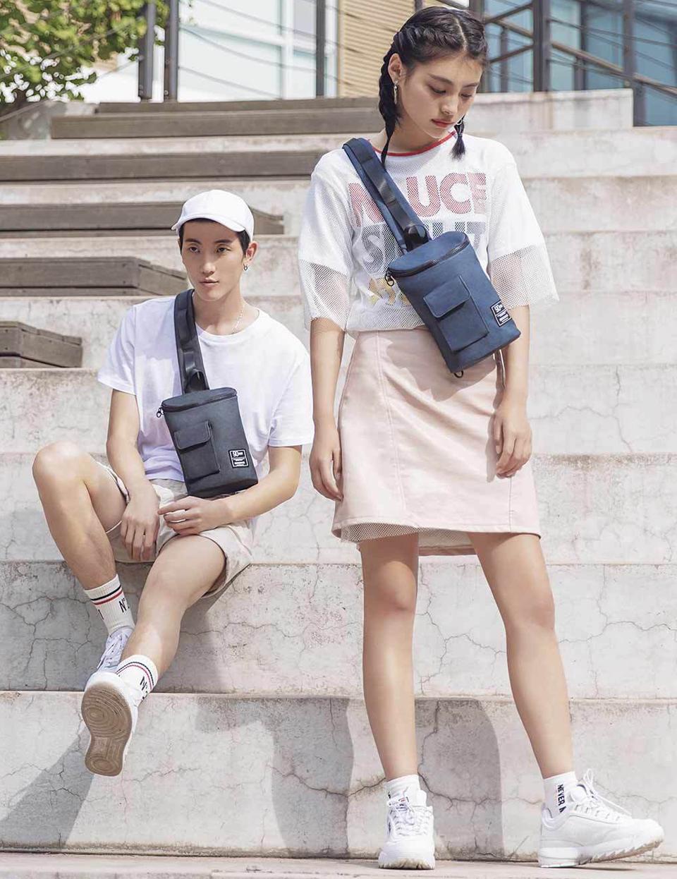 Сумка RunMi 90 Chic Casual Chest Bag парень и девушка