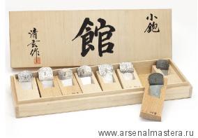 Рубанки японские из белого дуба MikiTool 8 штук 105 мм в деревянном кейсе М00012226