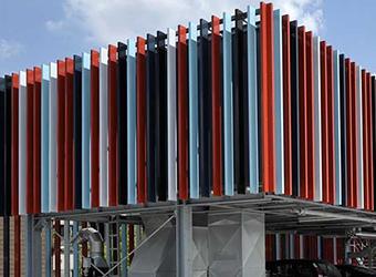 Фасадные ламели алюминиевые