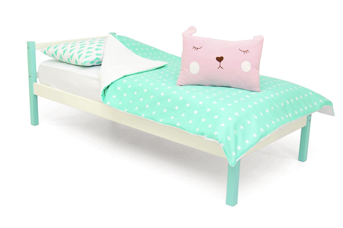 кровать детская мятный-белый