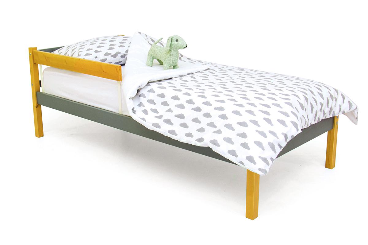 кровать детская дерево-графит