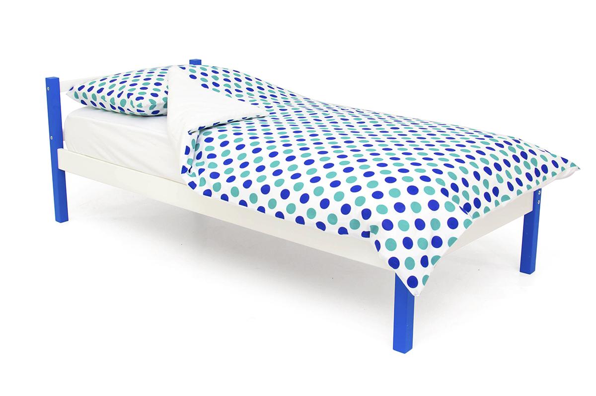 кровать детская синий-белый