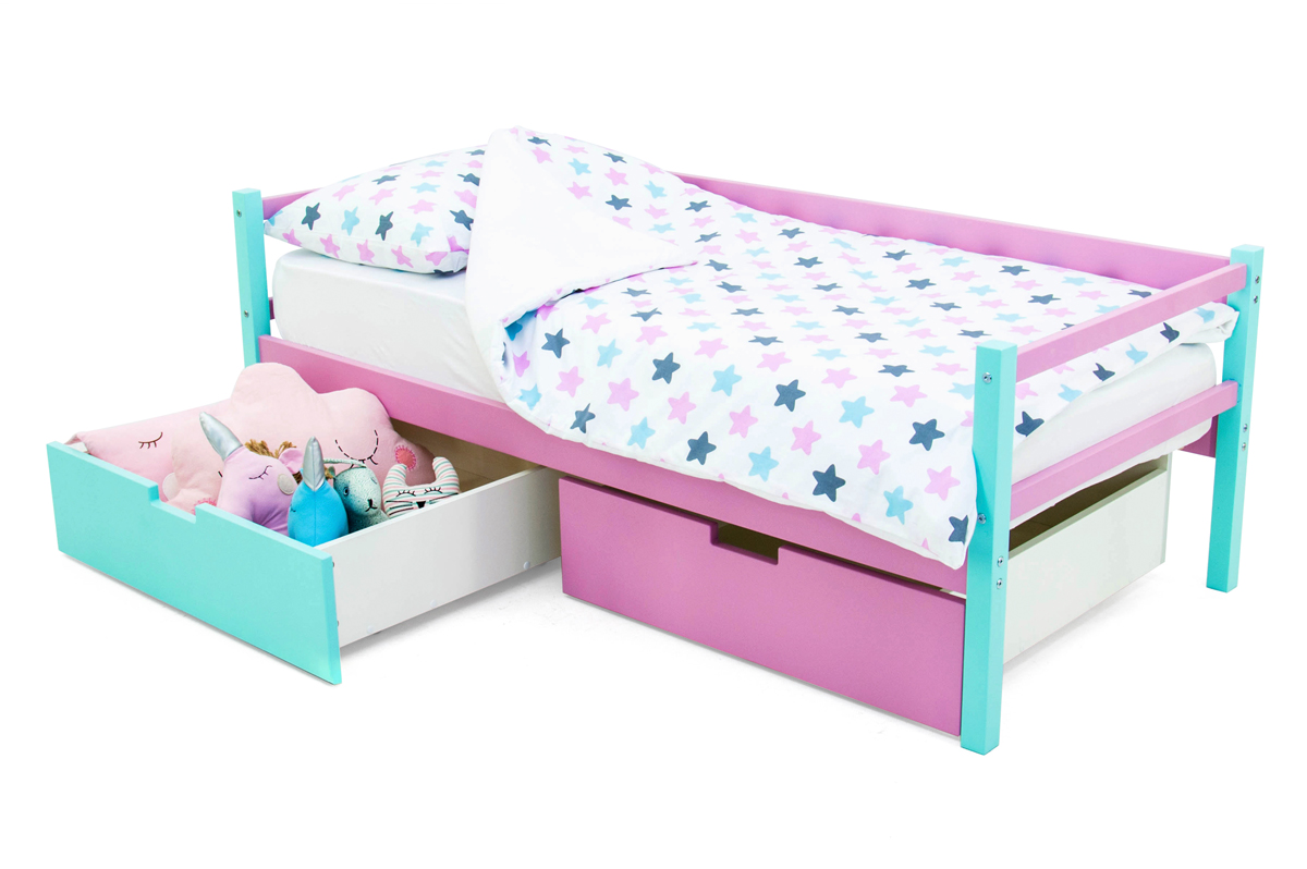 кровать-тахта мятный-лаванда