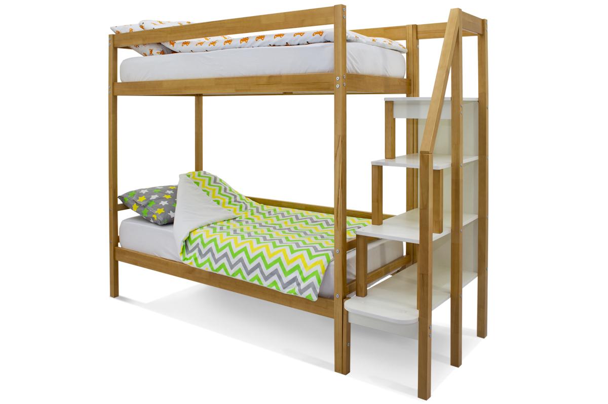 двухъярусная кровать детская дерево