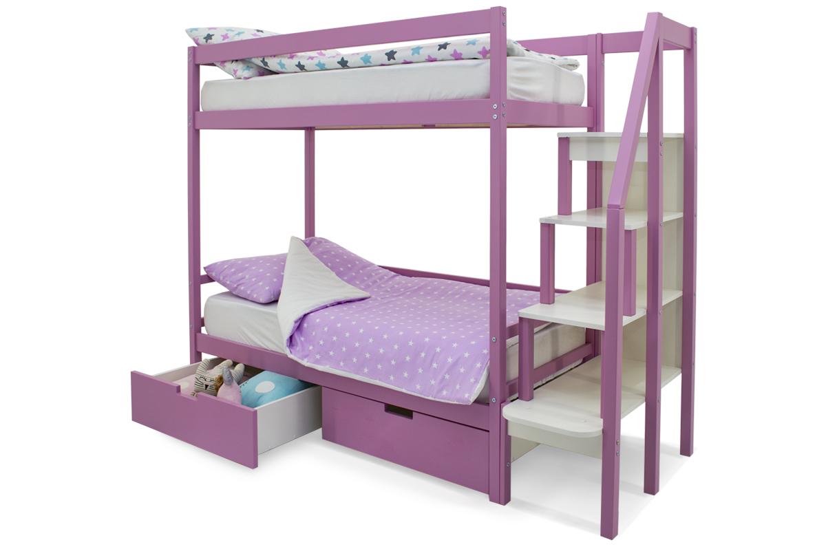двухъярусная кровать детская лаванда