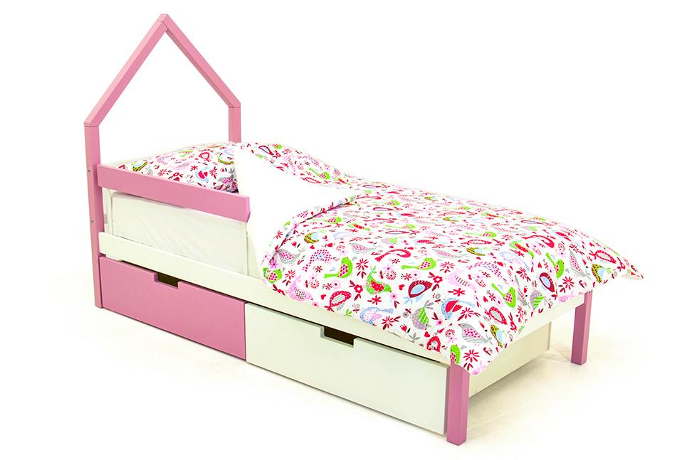 детская кровать лаванда-белый