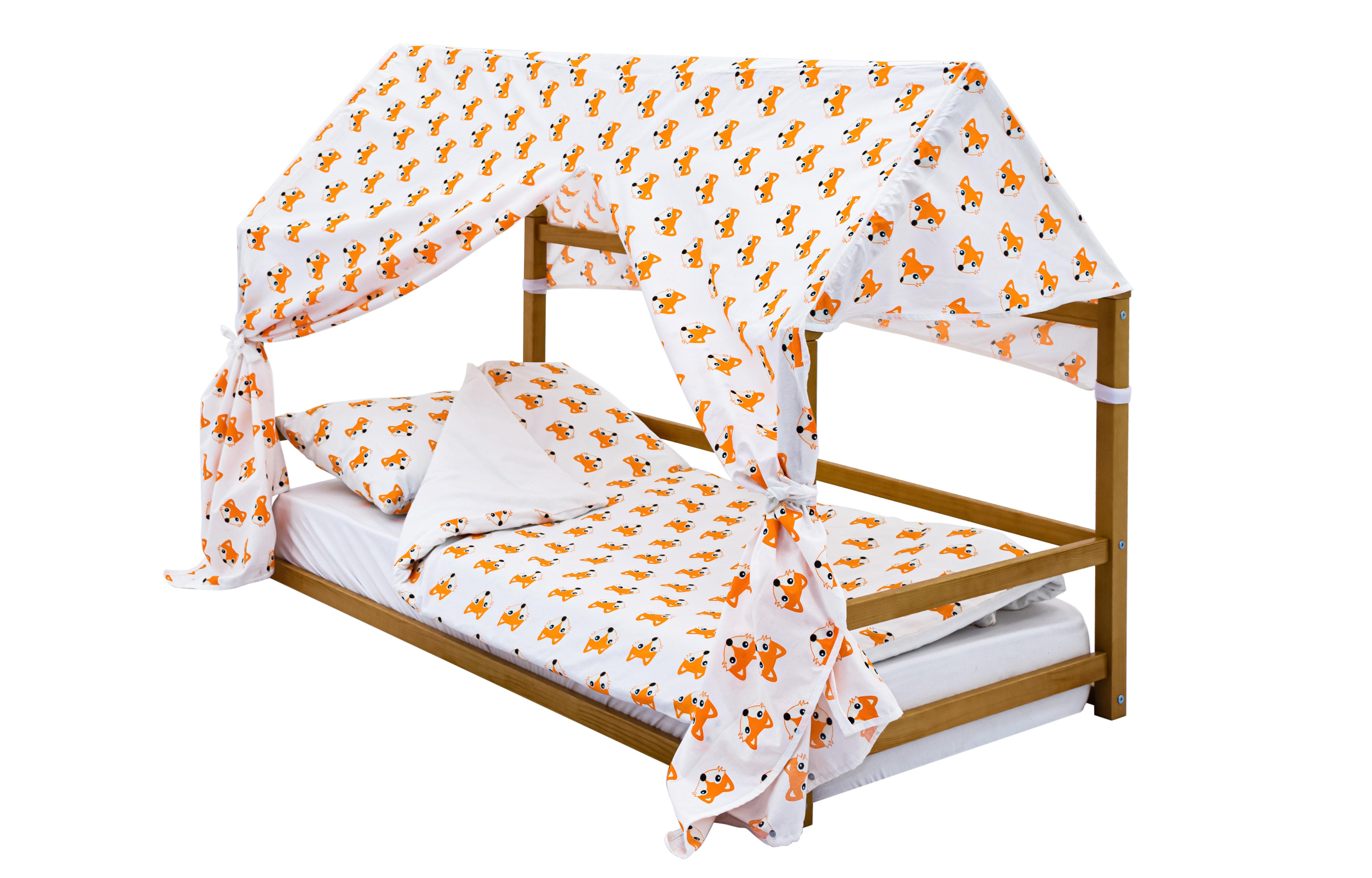 детская кровать монтессори дерево