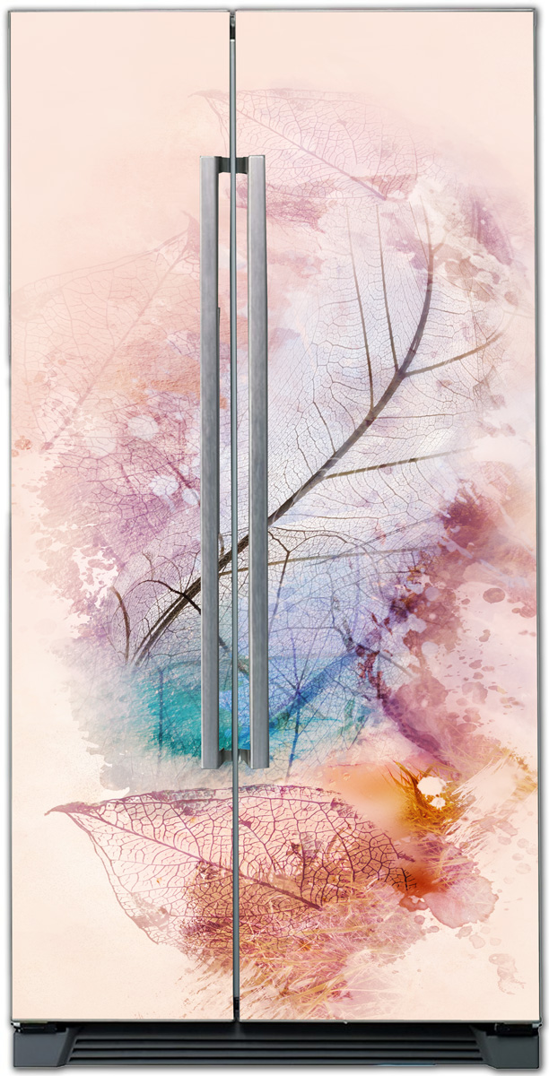 Наклейка на холодильник -  Листья | купить в магазине Интерьерные наклейки