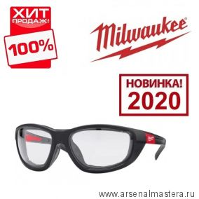 Очки защитные прозрачные PREMIUM MILWAUKEE 4932471885. Новинка 2020 года ! ХИТ !