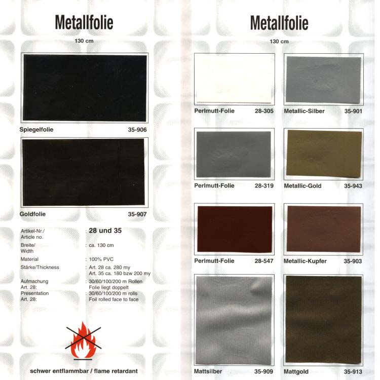 цвета пленки для натяжных потолков металлик