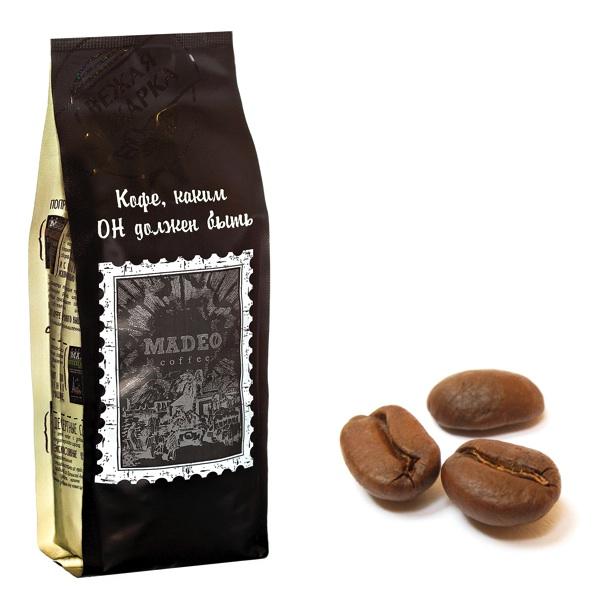 Упаковка зернового кофе весом 0,2 кг