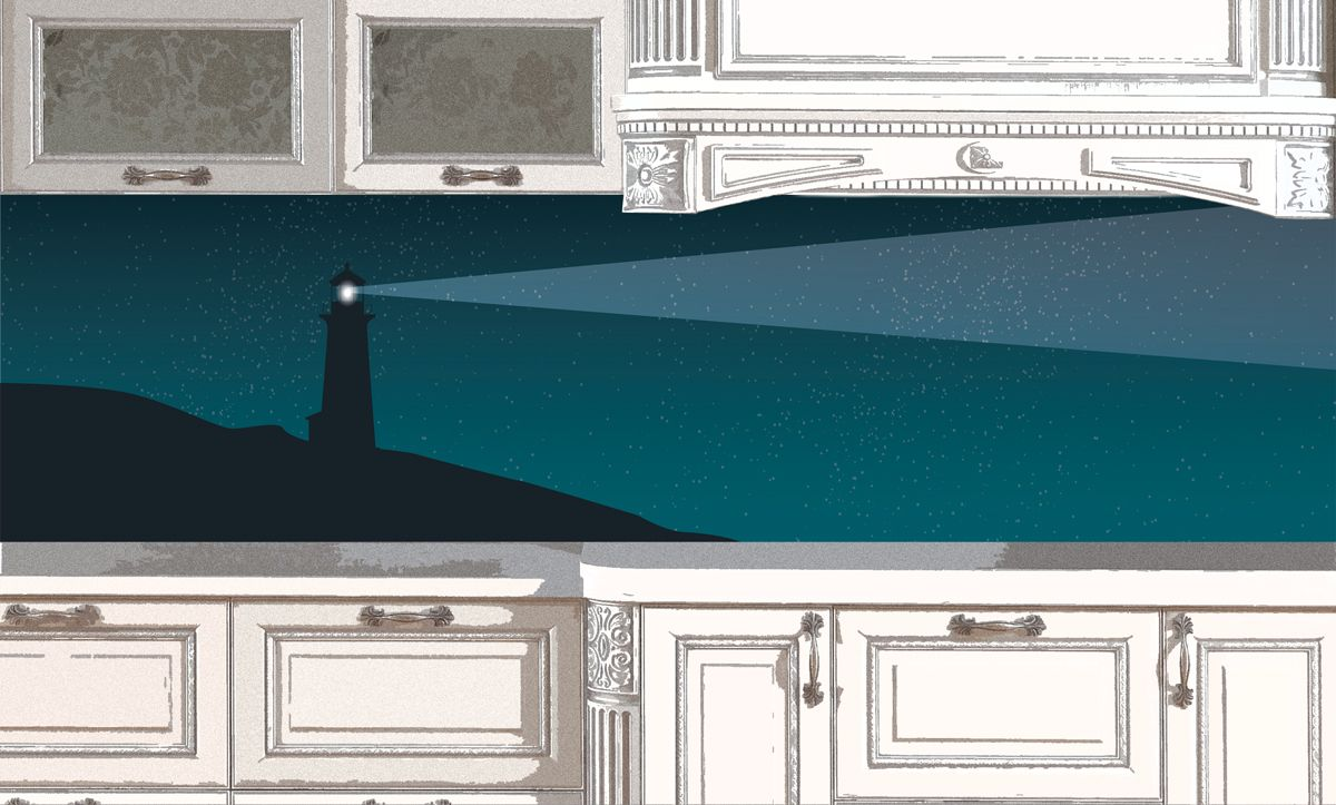 Kitchen Backsplash - Lighthouse