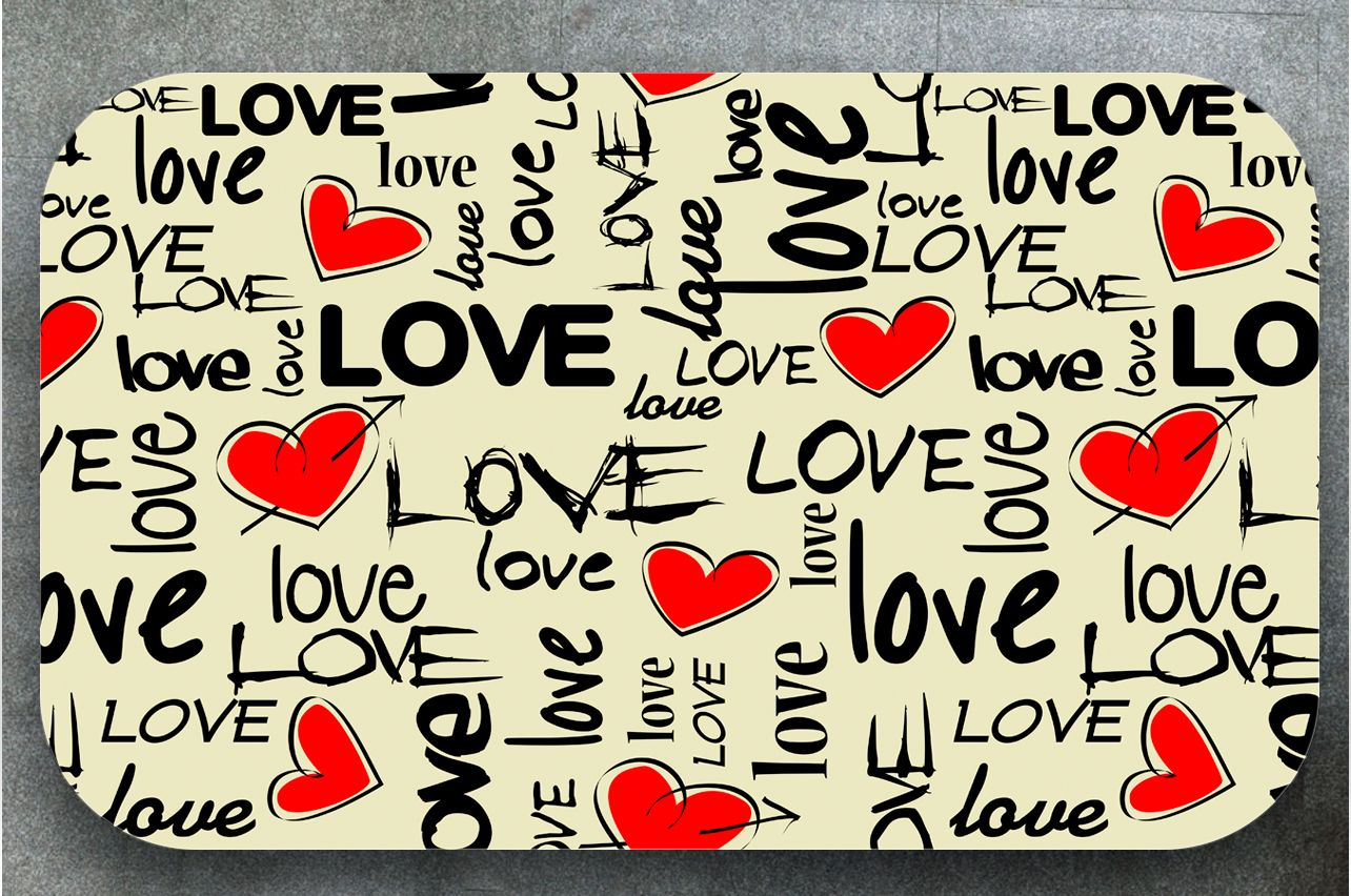 Stickers a Table - I love 2 | Table Decals in x-decor.com
