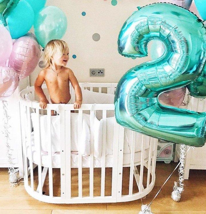 Шарики цифры тиффани на день рождения малыша
